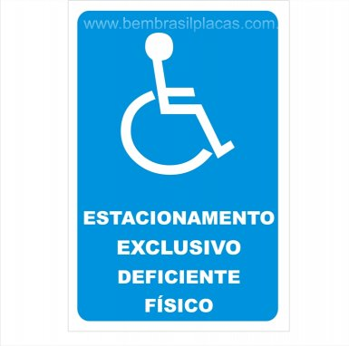 Estacionamento Exclusivo para Deficiente Físico